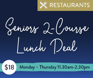 The Vue Seniors 2-Course Lunch Deal | Dining Offer | Mindil Beach Casino Resort